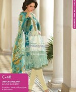 Gul Ahmed Lawn Prints 2014 For Summer 1