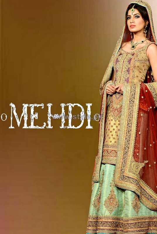 Mehdi Bridal Wear Dresses 2014 For Women 4