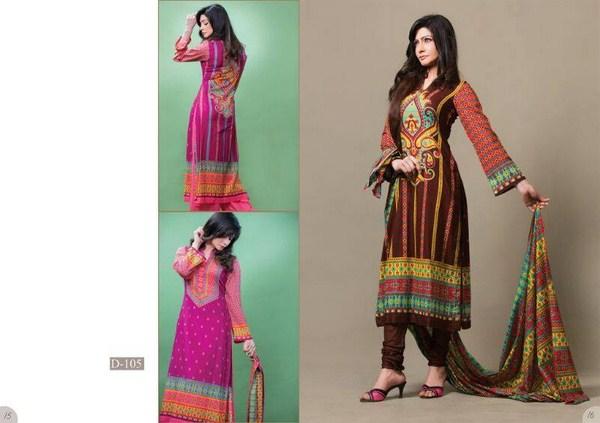 Moon Textile Sohni Lawn Dresses 2014 For Women 004