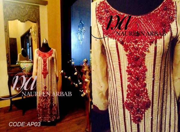 Naureen Arbab Summer Dresses 2014 For Women 004