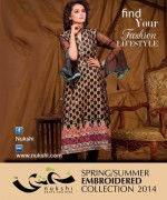 Nukshi Embroidered Dresses 2014 for Women001