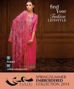 Nukshi Embroidered Dresses 2014 for Women003