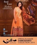 Nukshi Embroidered Dresses 2014 for Women006