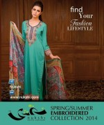 Nukshi Embroidered Dresses 2014 for Women007