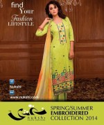 Nukshi Embroidered Dresses 2014 for Women008
