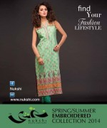 Nukshi Embroidered Dresses 2014 for Women009