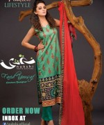 Nukshi Embroidered Dresses 2014 for Women012