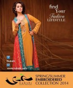 Nukshi Embroidered Dresses 2014 for Women013
