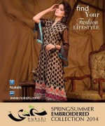 Nukshi Embroidered Dresses 2014 for Women014