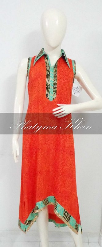 Phatyma Khan Casual Dresses 2014 For Women 004