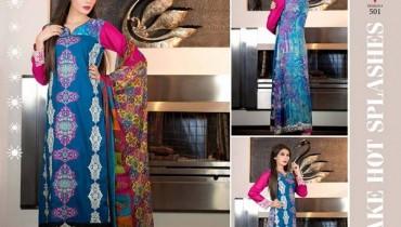 Rujhan Fabric Parisha Lawn Collection 2014 Volume 3 For Women 0015