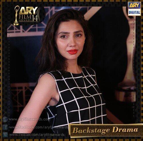 The gorgeous Mahira Khan backstage at ARY Film Awards new fashion