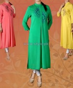 Yellow Casual Wear Dresses 2014 For Women 7