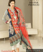 Zeniya Lawn Dresses 2014 by Deepak Perwani 2