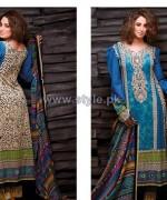 Al-Hamra Fabrics Lawn Prints 2014 For Women 12