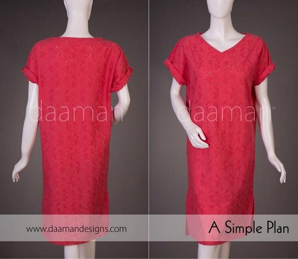 Daaman Casual Dresses 2014 For Women 003