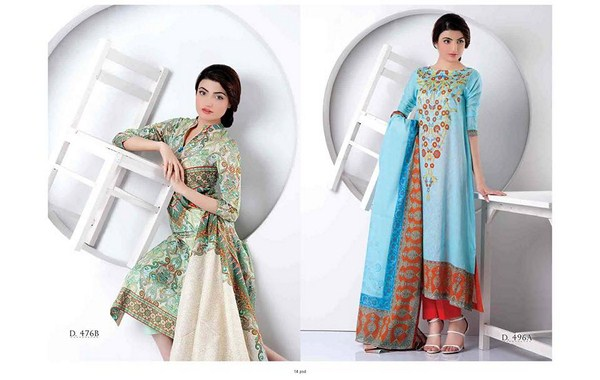 Five Star Textiles Classic Lawn Dresses 2014 Volume 2 For Women 0011