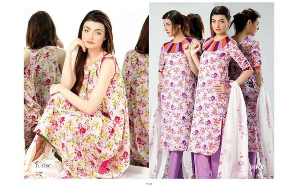 Five Star Textiles Classic Lawn Dresses 2014 Volume 2 For Women 002