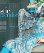 Gul Ahmed Silk Dresses 2014 For Summer 5