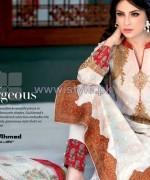 Gul Ahmed Silk Dresses 2014 For Summer 7