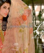 Gul Ahmed Silk Dresses 2014 For Women 11