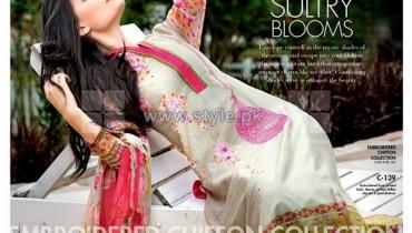 Gul Ahmed Silk Dresses 2014 For Women 12