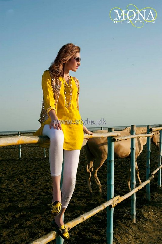 Mona Humayun Summer Dresses 2014 For Girls 3