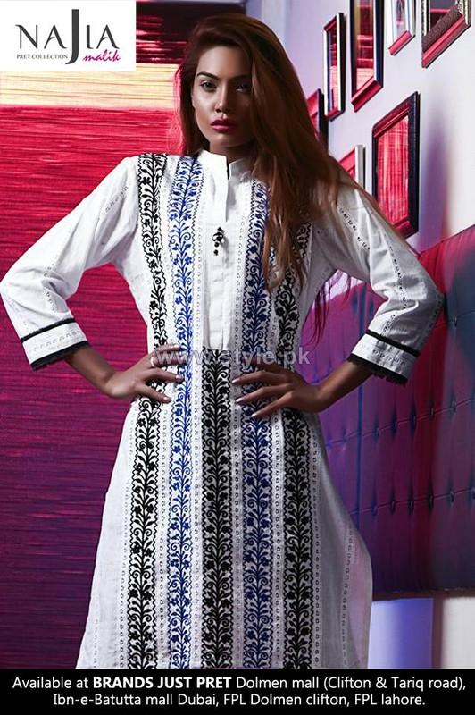 Najia Malik Summer Dresses 2014 For Women 8