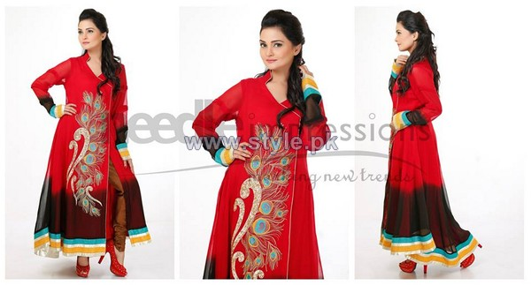 Needle Impressions Party Wear Dresses 2014 For Summer 6