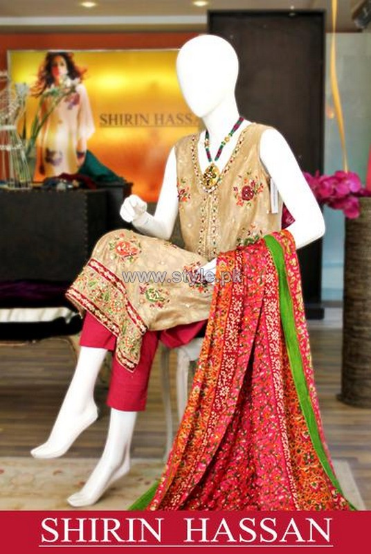 Shirin Hassan Casual and Party Dresses 2014 For Women 3