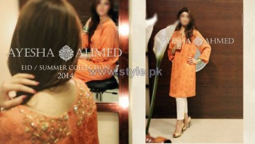 Ayesha Ahmed Eid Summer Dresses 2014 For Women 7
