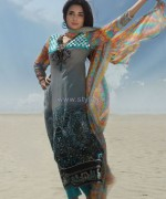 Dicha Embroidered Lawn Dresses 2014 For Eid 7