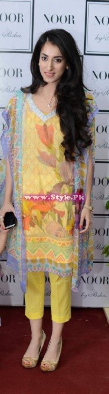 Fine Artist Sahar Noon who designed the prints and embroideries for Noor...