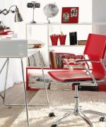 Home Office Designs With Red Accents 007