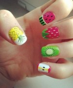 Latest Fruit Nail Art Designs 2014 for Summer Season 0011
