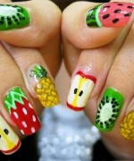 Latest Fruit Nail Art Designs 2014 for Summer Season 0017