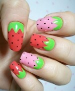 Latest Fruit Nail Art Designs 2014 for Summer Season 006