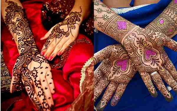 Loved Heart Mehndi Designs For Women 0012