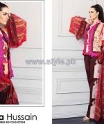Nadia Hussain Embroidered Eid Dresses 2014 by Shariq Textiles 2