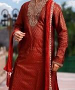 Trend Of Mehndi Kurtas 2014 For Men 0010