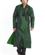 Trend Of Mehndi Kurtas 2014 For Men 0012