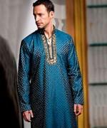 Trend Of Mehndi Kurtas 2014 For Men 005