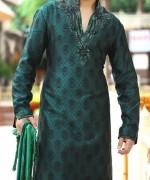 Trend Of Mehndi Kurtas 2014 For Men 006