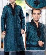 Trend Of Mehndi Kurtas 2014 For Men 008