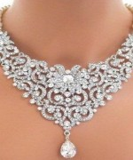 Trend Of White Gold Necklace For Women 005