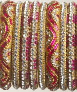 Trends Of Stone Bangles 2014 For Women 003