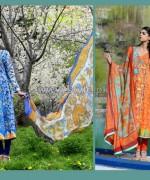 Wardah Saleem Lawn Prints 2014 by Shariq Textiles 7