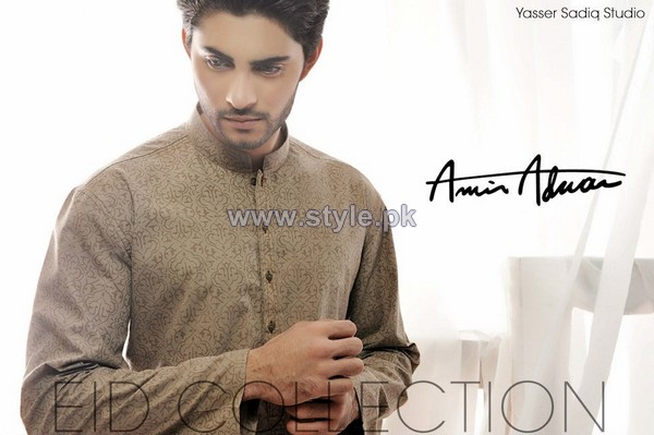 Amir Adnan Men Kurta Designs 2014 For Eid 2