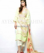 Ayesha Ibrahim Lawn Dresses 2014 For Girls 1