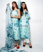 Ayesha Ibrahim Lawn Dresses 2014 For Girls 4